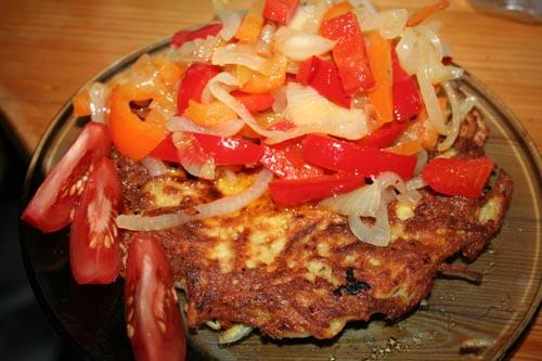 Kartoffelpuffer mit Gemüse